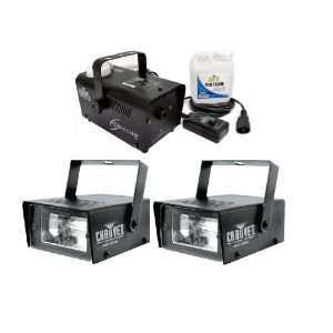 Package Two CHAUVET CH 730 Mini Strobe Lights + H700 Fog