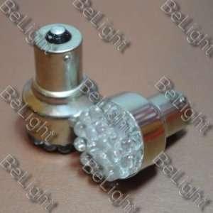2 X White 1156 19 LED Car Light Tail Brake Bulbs