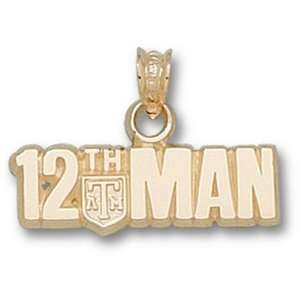 Aggies 1/4in 10k 12th Man Pendant/10kt yellow gold Jewelry