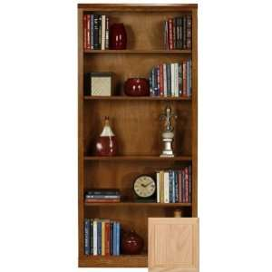Coastal 13972NGUN Coastal Classic Oak 72 Open Bookcase  Unfinished