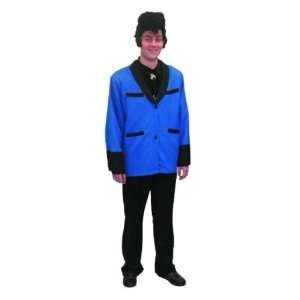 50s Rock & Roll Teddy Boy Blue 4pc Fancy Dress Costume