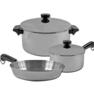 5 piece REVERE Stainless Steel Aluminum Disc Cookware Set