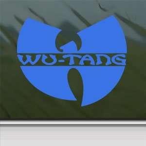 Wu Tang Clan Blue Decal Rap Rock Band Truck Window Blue