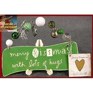 Wall Hanger Merry Kissmas With Lots of Hugs Christmas: Home & Kitchen