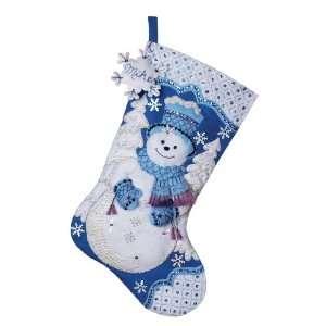 Bucilla Snowflake Snowman Stocking Felt Appliqué Kit, 18