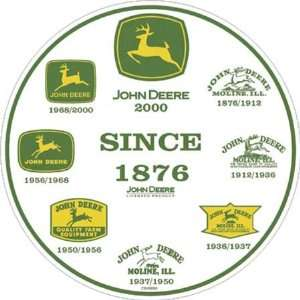 John Deere 60023 History Of Logos Round Metal Sign