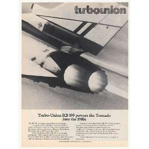 1977 Turbo Union RB 199 Jet Engine Tornado Aircraft Print