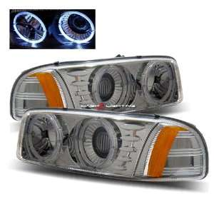 01 06 GMC Yukon Denali Halo Projector Headlights   Chrome