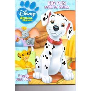Disney Animal Friends Big Fun Book to Color ~ Laugh and Play