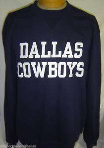 New Dallas Cowboys Navy Blue Sweatshirt Reebok Large