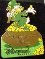 Lot of Disney St. Patricks Day Mickey Scrooge McDuck LE Pins
