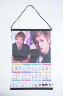 KIM HYUN JOONG ~ SS501 Boy Band 2012 Wall Calendar C6