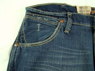Mens Western Wrangler Retro Slim Boot Cut Premium Patch Jeans NWT 34 x