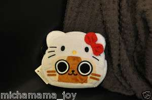 Sanrio Airou x Hello Kitty Plush Zipper Pouch Bag Monster Hunter