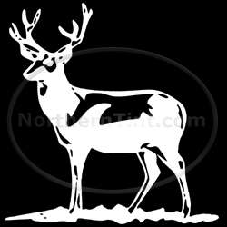 Deer hunting vinyl wall art car truck decal sticker 058