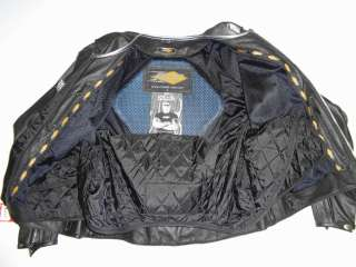 ORANGE COUNTY CHOPPERS LEATHER MOTORCYCLE JACKET POWER TRIP OCC BLACK