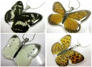 36PCS NOBLE LADY YELLOW BUTTERFLY QUEEN AMBER PENDANTS
