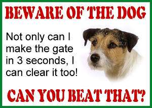 JACK RUSSELL FUN SECURITY BEWARE OF THE DOG SIGN