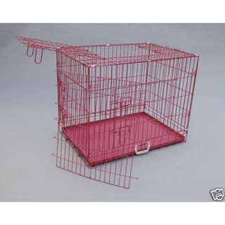 48 3 Door Folding Suitcase Dog Crate Pet Cage Cat Kennel w/DIVIDER