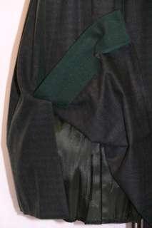 ALPHORN ~ GREEN & BLACK Plaid ~ WOOL German Winter PLEATED Swing SKIRT