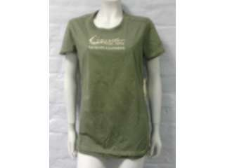 NEW WOMENS CATERPILLAR ARMY GREEN T SHIRT UK WOMENS L @