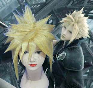Final Fantasy VII Cloud Blonde Cosplay Wig short Costome party coser