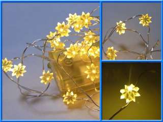 30 LED Battery Decoration String Lights Yellow Flower
