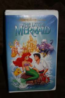 THE LITTLE MERMAID BANNED RARE COVER DISNEY ORIGINAL BLACK DIAMOND VHS