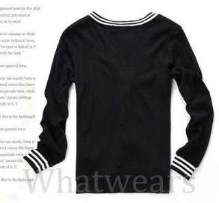 Mens Slim Fit V Neck Style Casual Sweater White W27