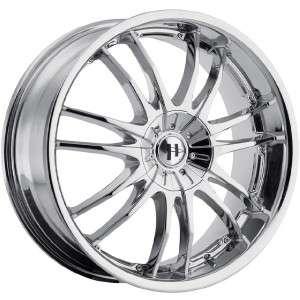 17 inch Helo HE845 chrome wheel rims 4x4.5 4x114.3 +42