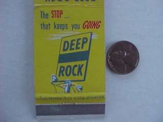 1950s Spencer,Wisconsin Deep Rock gas & oil service station matchbook