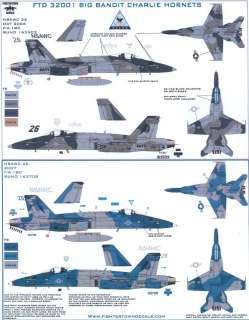 Fightertown Decals 1/32 F 18C HORNET BIG BANDIT CHARLIE HORNETS