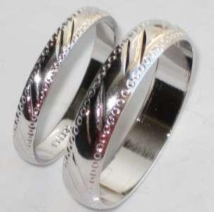 BRIDAL 18kt WHITE GOLD GP WEDDING BAND RING 18KT GOLD GP R3041