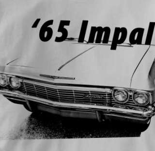 Chevy Impala 1965 Classic GRAY Chevrolet Car T Shirt XL