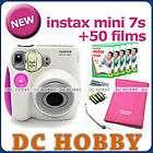 Fuji instax mini 7s Fujifilm instant Polaroid camera + 50 film