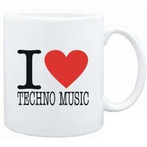 Mug White  I LOVE Techno Music  Music Sports & Outdoors
