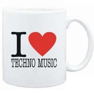 Mug White  I LOVE Techno Music  Music Sports & Outdoors