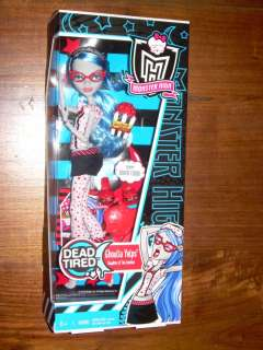 MONSTER HIGH Mattel DEAD TIRED Doll GHOULIA YELPS *NIB*