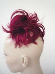 RUBY BRIGHT RED BUN UP DO DOWN DO TOPPER SPIKY TWISTER