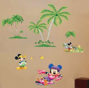 Cute Disney Mickey COCO Palm characters Home Wall Art Decor Stickers