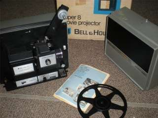 VINTAGE BELL & HOWELL MOVIE FILM PROJECTOR MODEL 467 8MM DUAL 8 MANUAL