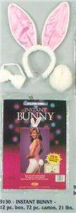 Adult Instant Bunny Kit Ears Headband Tail Bow Tie Halloween Costume
