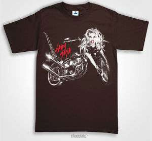 LADY GAGA BORN THIS WAY ALBUM COVER T Shirts Brown NEW