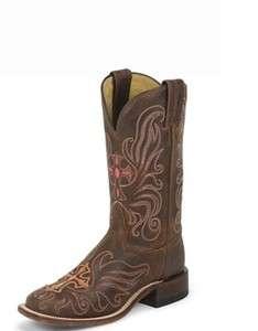 NIB Womens Tony Lama 7930L Western Cross Cowboy Boots