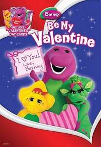 Love, Barney DVD, 2010, With 3 Valentines Day Cards