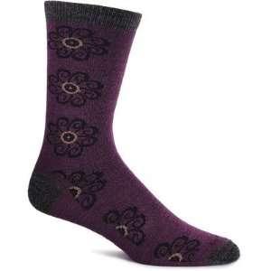Marigold Merino Wool / Bamboo Crew Sock in Plum