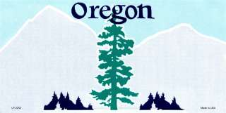 LP 2252 Oregon State Blank FLAT Custom Personalized License Plate Auto