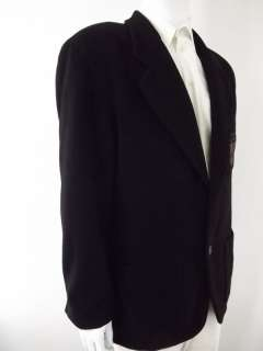 Mens blazer jacket wool blend black Iceberg XXL 52R 52 R