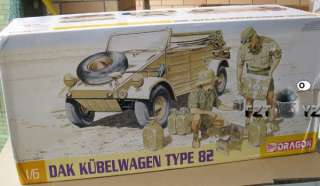 Dragon WWII German Dak Kubelwagen Type 82 1/6 Model Kit |