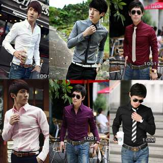 CASUAL MENS LONG SLEEVE SHIRT SLIM FIT 1400